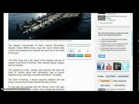 Iran:WE Control Movement in the Strait