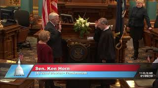 Sen. Horn sworn in as Michigan senator
