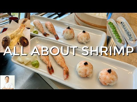 How To Prepare Shrimp 4 Ways For Sushi - Tempura - Rolls - Handrolls