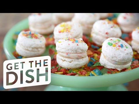 how-to-make-fruity-pebbles-macarons-|-get-the-dish