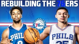 Rebuilding the philadelphia 76ers - nba 2k17 my league!