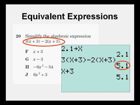 Test Taking Tricks 2 Equivalent Expressions - YouTube
