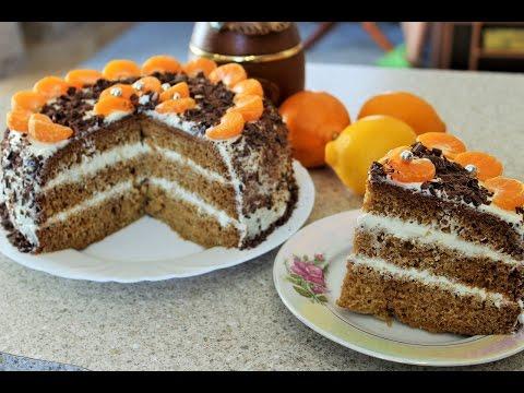 Торт с нежнейшими бисквитными коржами и крем-чизом (Творожно-масляный крем).