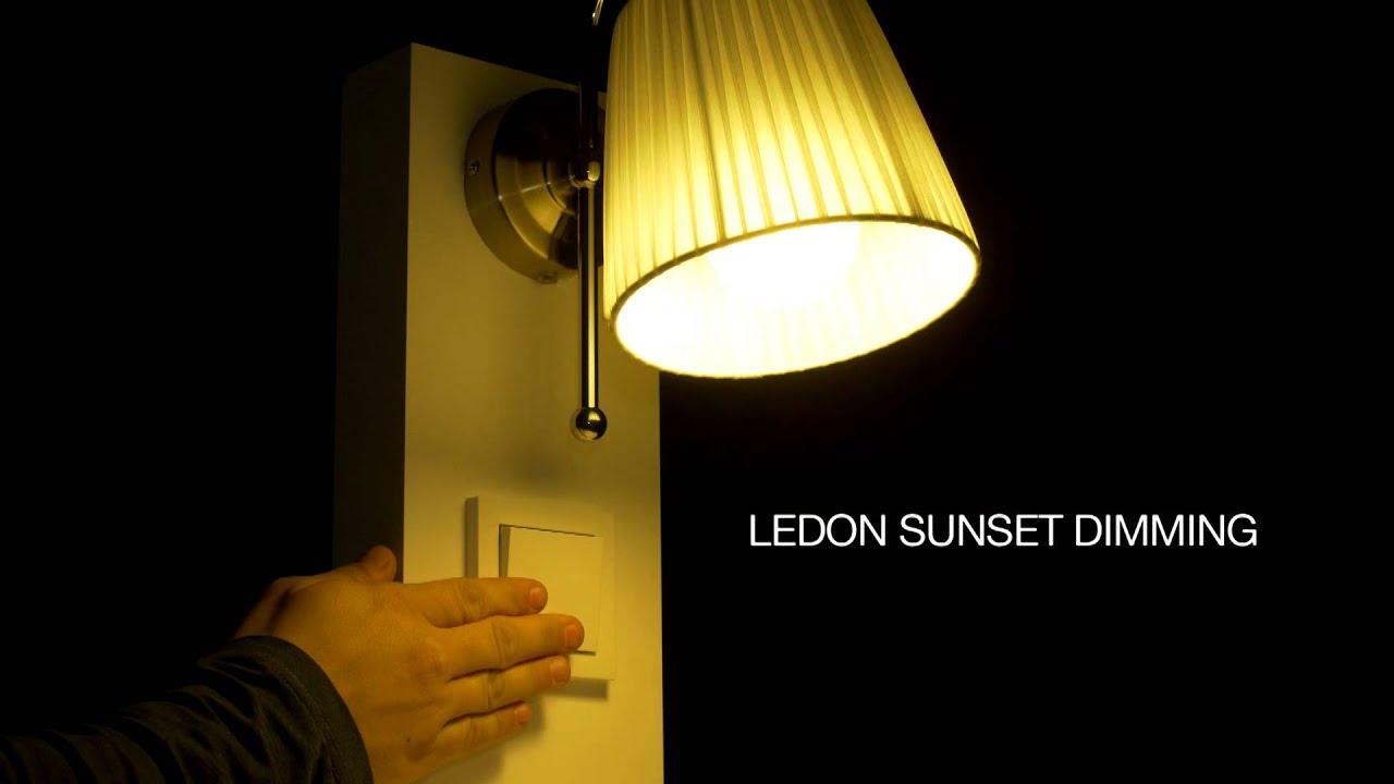 ledon dimmen von led lampen youtube. Black Bedroom Furniture Sets. Home Design Ideas