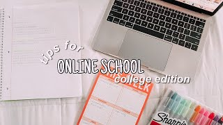 tips for online school **college edition
