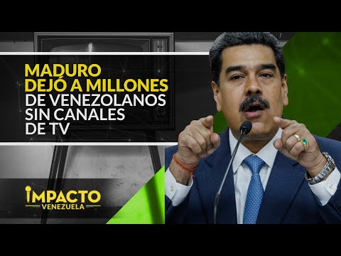 ¡Maduro le apagó la televisión por cable a los venezolanos!   Impacto Venezuela