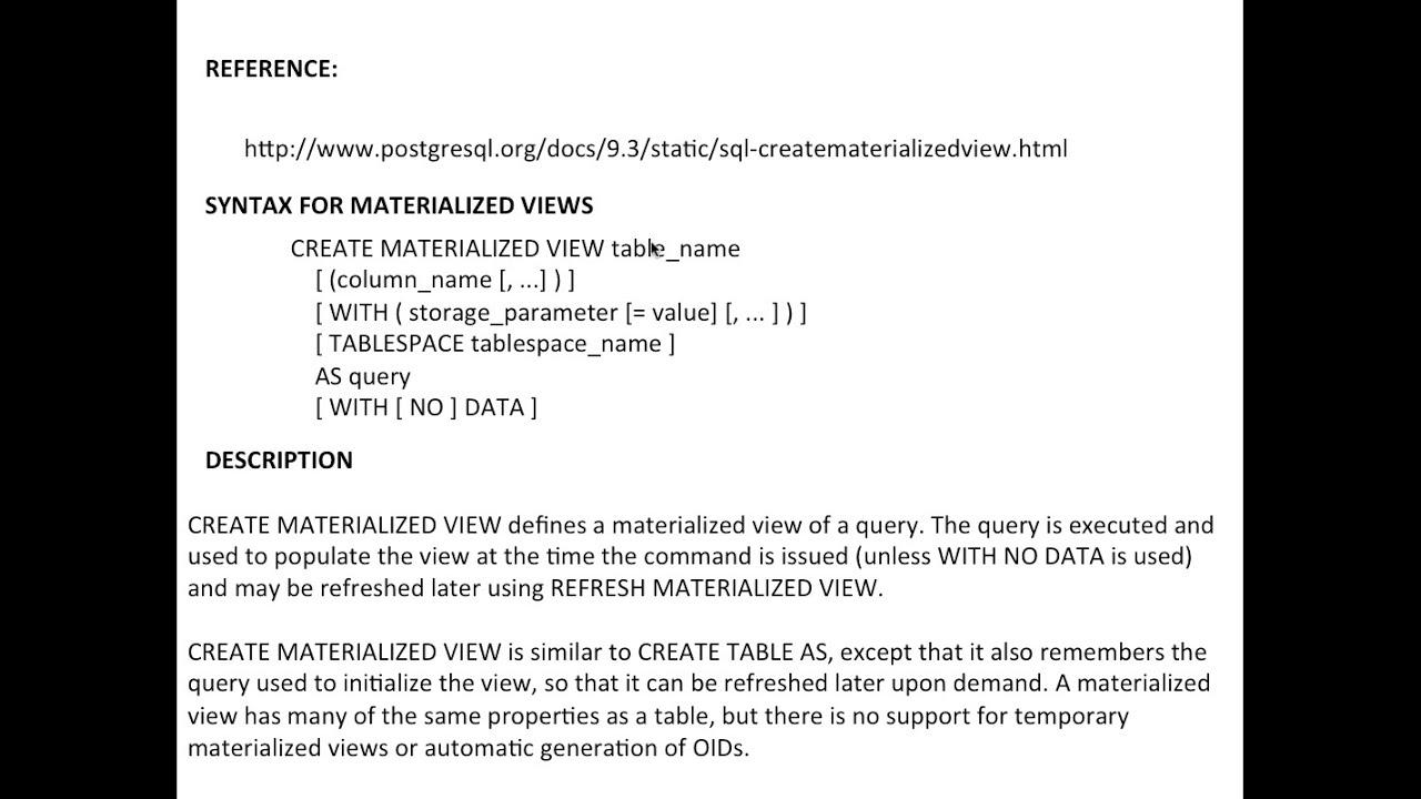 Create Materialized View In Postgresql Using Rubyonrails Part 2