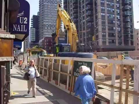 "Second Avenue Subway Construction ""Q Train"" New York City, 2007"