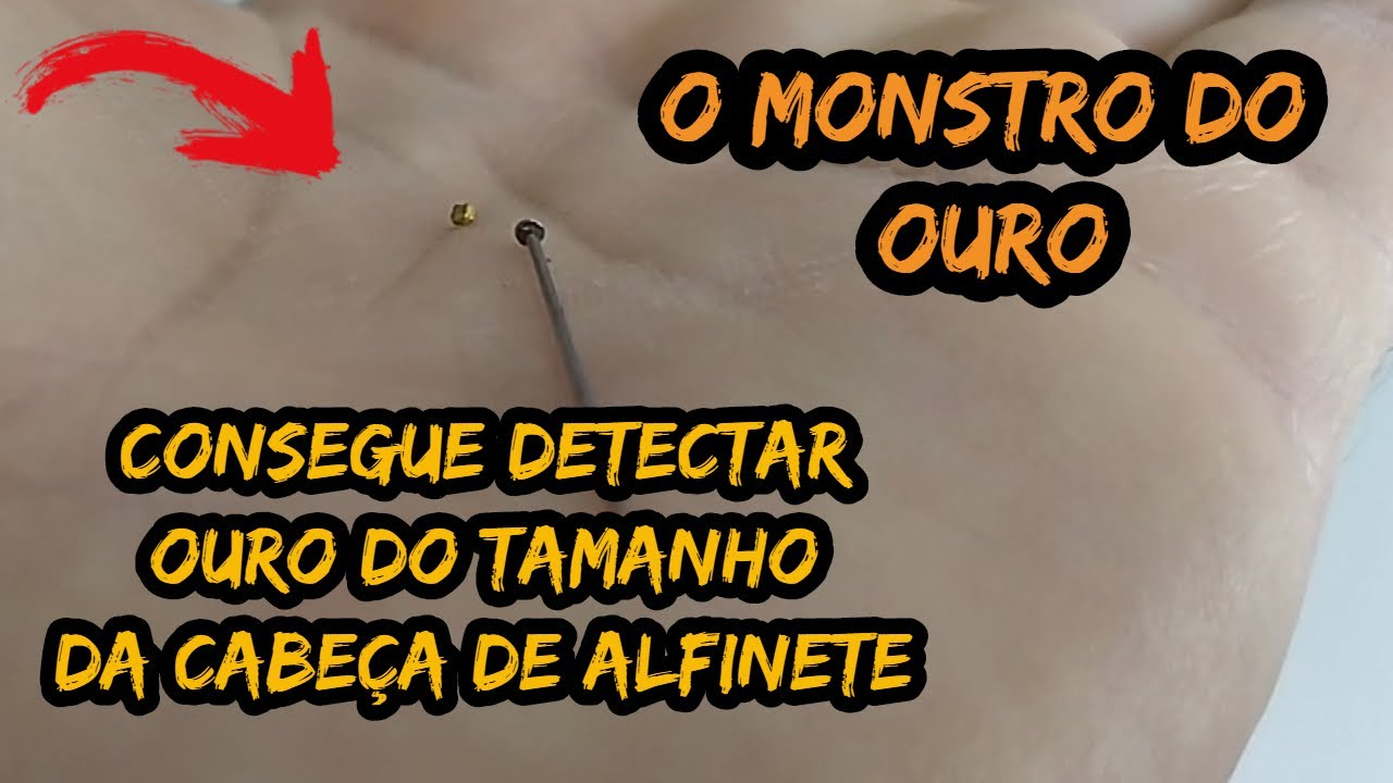 DETECTOR DE METAL GOLD MONSTER 1000 PEGANDO OURO MINÚSCULO - INCRÍVEL ESSE DETECTOR DE OURO