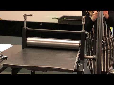 Printing a photoetching on etching press