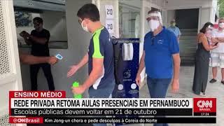 DESTAQUE: CFC na CNN Brasil - Retomada das aulas presenciais em PE