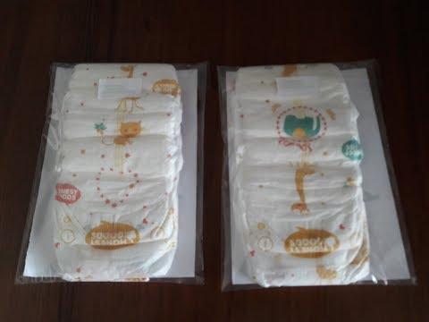 Пробники детских подгузников от Honest Goods. Samples of baby diapers from Honest Goods.
