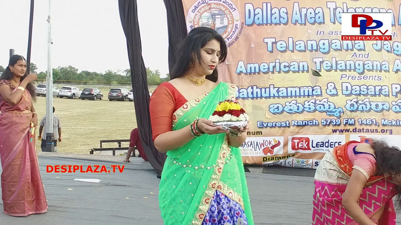 Beautiful Slow Motion Shot at DATA Bathukamma - 2017 -  Dallas, TX, USA