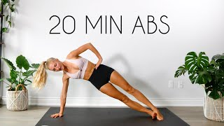20 min TOTAL CORE AB WORKOUT (At Home No Equipment)
