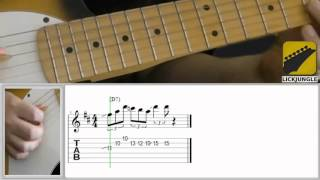 Buddy Guy style easy lick - Slow - Bar 4 - The crucial moment between I and IV