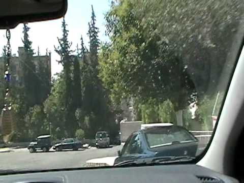 Driving in Damascus, Syria