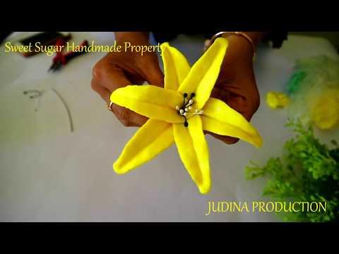 Cara Membuat Bunga Lili Cantik Dari Sabun Tutorial Bunga Sabun Youtube
