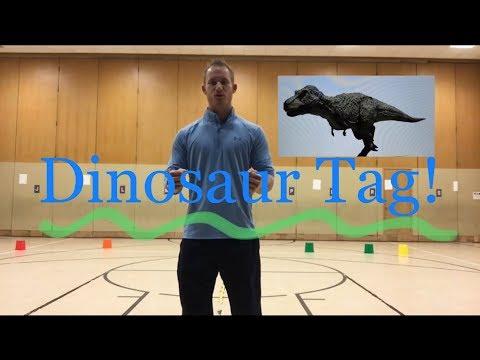 PE Games Dinosaur Tag Grades K-2