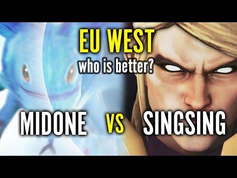 MidOne Puck in Europe vs Singsing Invoker - Who is better?