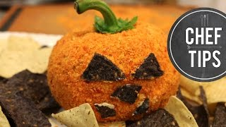 Easy Halloween Appetizer - Pumpkin Cheese Ball