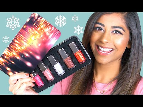 FENTY HOLIDAY 2019 ❄ Gloss Bomb Set! Review & Lip Swatches thumbnail