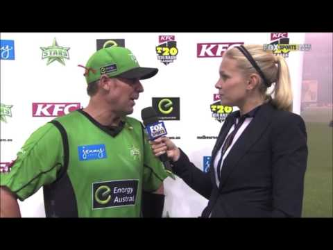 Shane warne vs Marlon samuels Post match interview
