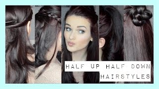 One of Alice Thorpe's most viewed videos: Quick & Easy Half Up Half Down Hairstyles | ohhitsonlyalice
