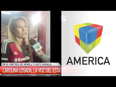La emoción de Carolina Losada como voz del estadio de Newell´s