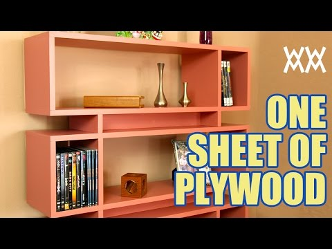 Make a bookcase using a single sheet of plywood