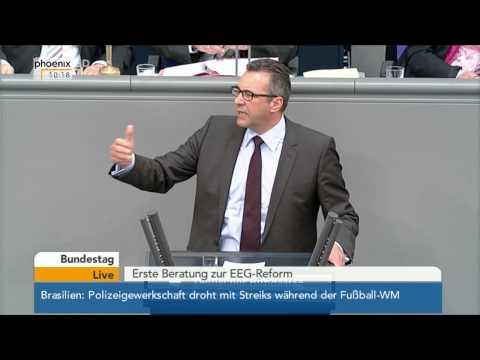 Bundestag - Erste Beratung zur EEG-Reform am 08.05.2014