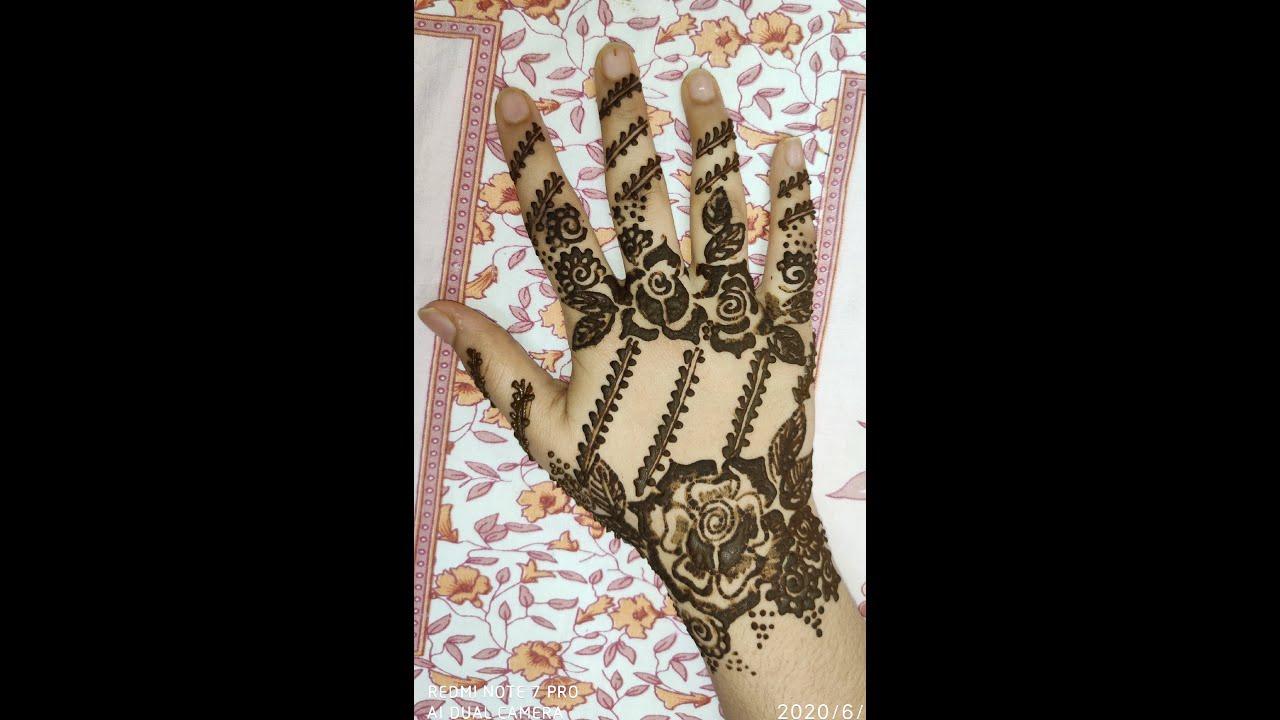 Latest Mehendi Design for Back Hand / Beautiful back hand Mehendi Design