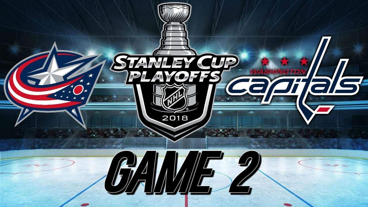 a933d4cb34d WASHINGTON CAPITALS VS COLUMBUS BLUE JACKETS - GAME 2 RECAP - 2018 Stanley  Cup Playoffs