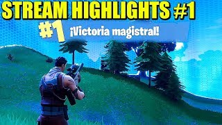 VICIO STREAM HIGHLIGHTS #1 - FORTNITE BATTLE ROYALE | Gameplay Español