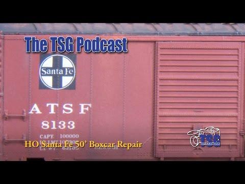 HO Scale Repair A Box Car Intermountain Podcast 2-1-16