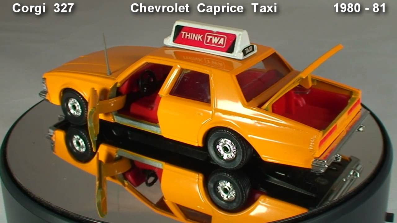 I 77 Chevy >> Diecast Cars Chevrolet Caprice Taxi Corgi 327 1980 - YouTube