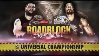 WWE Roadblock 2016 Kevin Owens vs Roman Reigns Official Match Card
