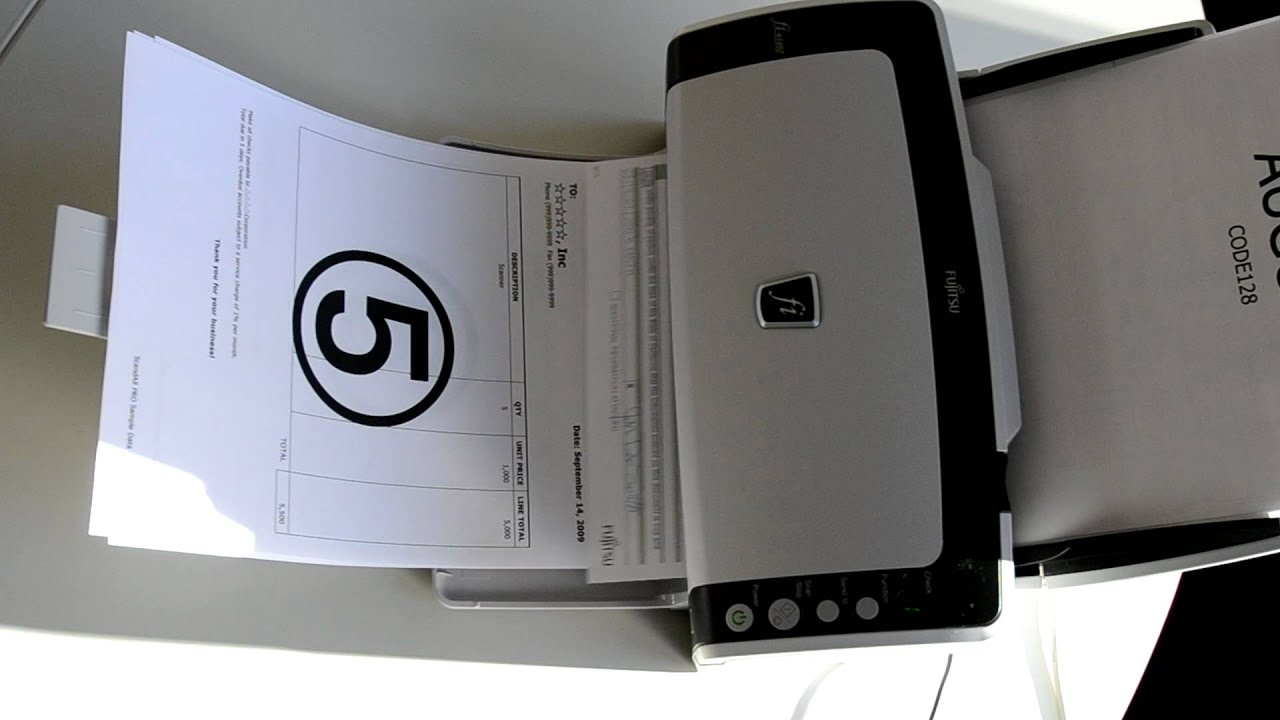 Look how fast the Fujitsu scanner fi-6140Z is
