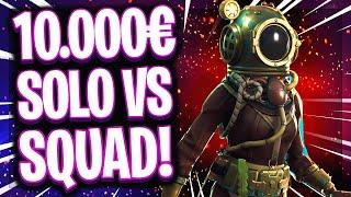 😳💶10.000€ SOLO VS SQUAD!   ☠️Jeder Kill 50 Schild macht die Pros unbesiegbar im 1vs4!