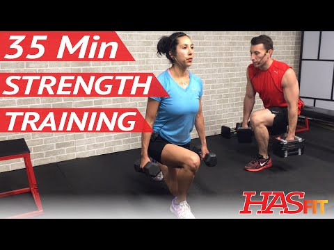 35 Min Strength Training for Women & Men at Home - Weight Training Workouts for Men & Women