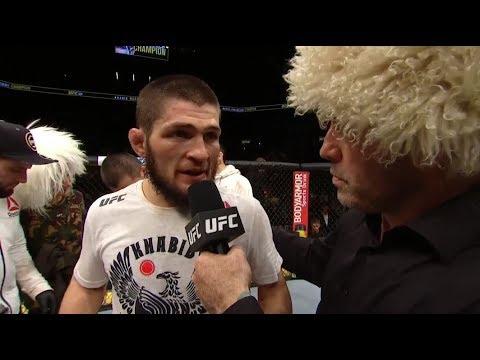 UFC 223: Khabib Nurmagomedov Octagon Interview