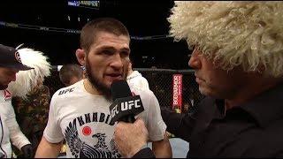 Download UFC 223: Khabib Nurmagomedov Octagon Interview Mp3 and Videos