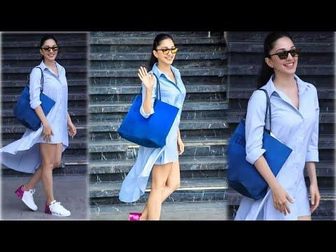 kiara-advani-w0re-sh0cking-dress-on-kabir-singh-promotion-|-spotted-at-juhu