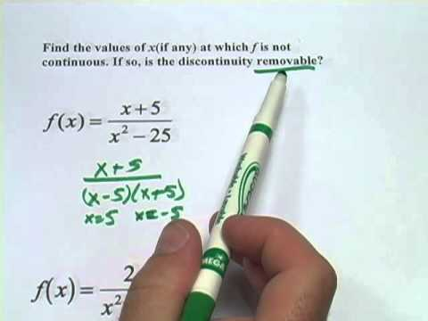 Identifying Removable Discontinuities