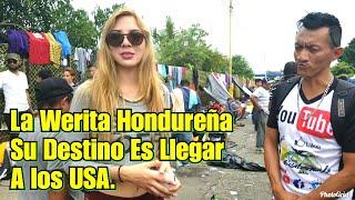HERMOSA HONDUREÑA CRUZA LA FRONTERA DE MEXICO| DE MOJADO