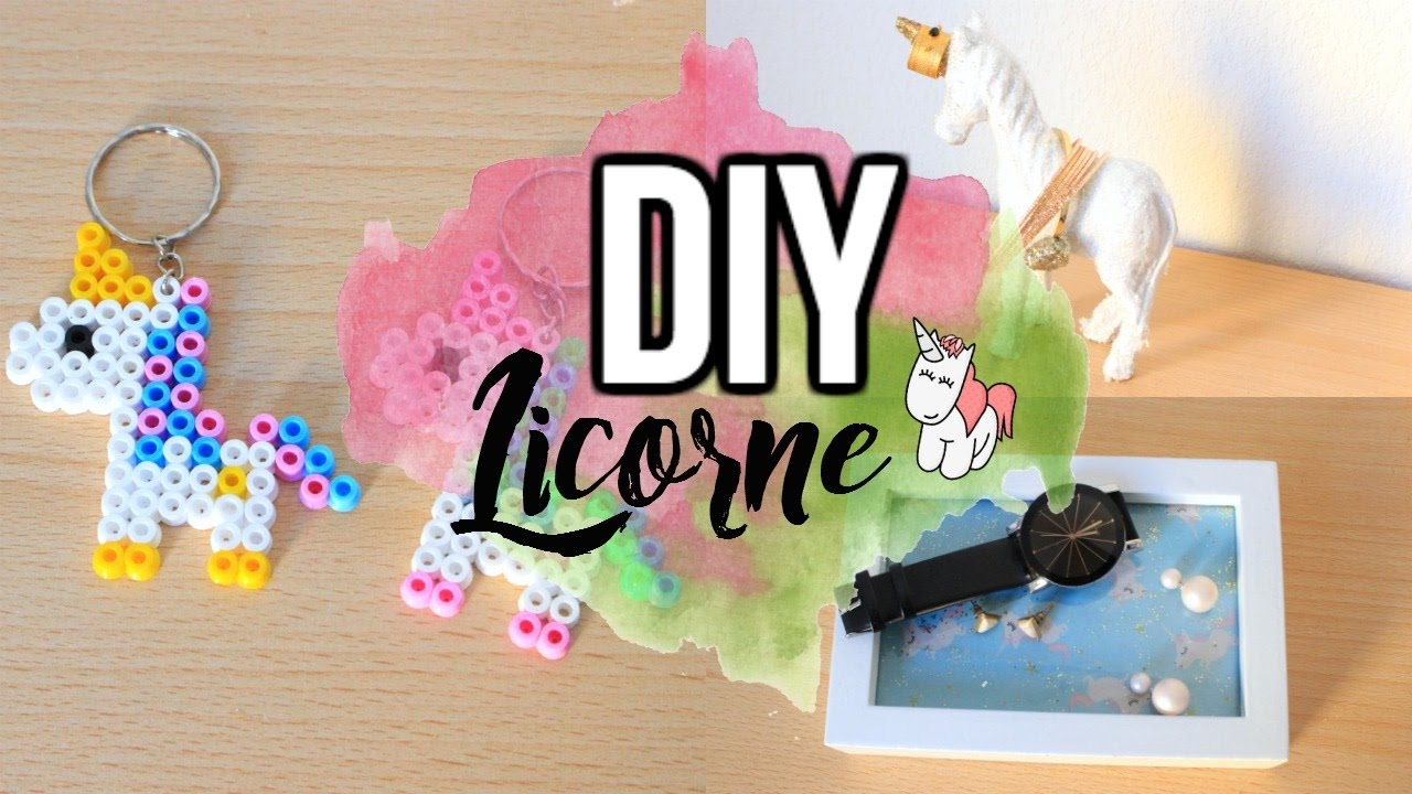 Diy deco chambre licorne youtube for Chambre licorne