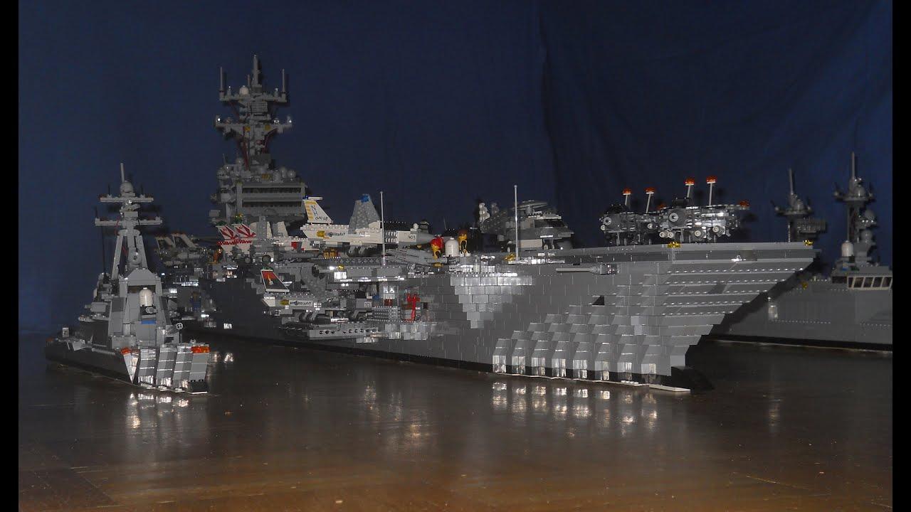 lego aircraft carrier construction youtube