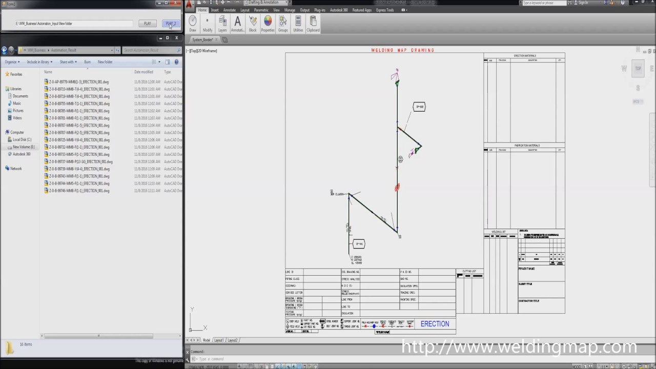 Generation of welding map drawings on autocad paper color mode generation of welding map drawings on autocad paper color mode malvernweather Images