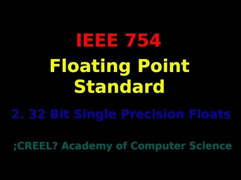 IEEE 754: 32 Bit Single Precision Floats