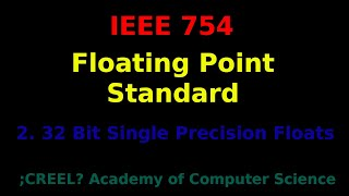 IEEE 754: 32 Bit Single Precision Floats
