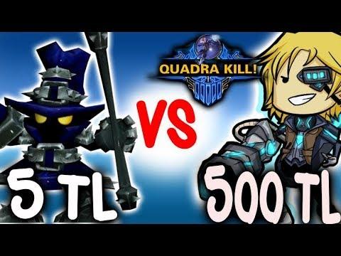 500 TL Ezreal vs 5 TL Veigar - Kaçma Gızz